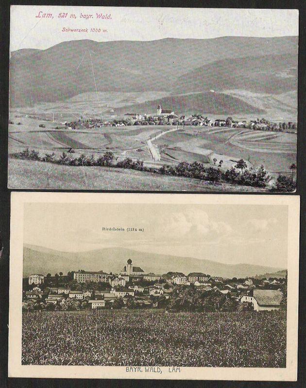 2 Ansichtskarte Lam Schwarzeck Riedelstein 1925