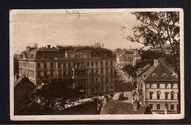 Ansichtskarte Teplitz-Schönau Teplice 1920 Kaiserbad Straße
