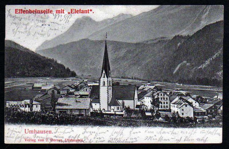 Ansichtskarte Umhausen Tirol Reklame Seife Elefant