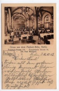 Ansichtskarte Berlin 1912 Restaurant Pschorr Bräu Friedrichs