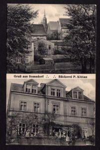Ansichtskarte Somsdorf b. Tharandt Bäckerei P. Kittan Bäcker