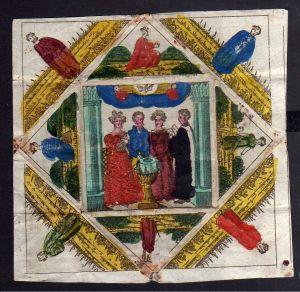 Taufbrief Am Tage der Weihe 1835 Patenbrief Leipzig handcoloriert