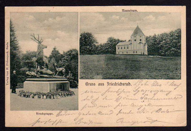 Ansichtskarte Friedrichsruh Aumühle 1901 Hirschgruppe Mausoleum