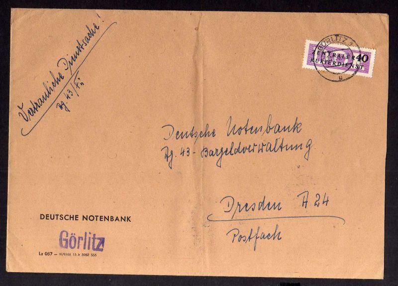 B1185 DDR ZKD 1957 B 8 vertrauliche Dienstsache 22.11 56 Deutsche Notenbank Görl
