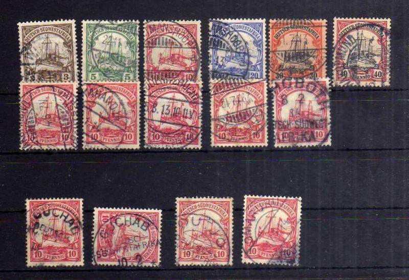 B1180 Deutsch Südwestafrika kleines Stempellot mit 2 x Guchab
