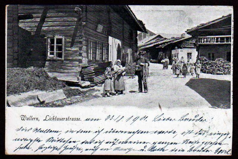 Ansichtskarte Wallern Lichtauerstrasse 1901 Volary