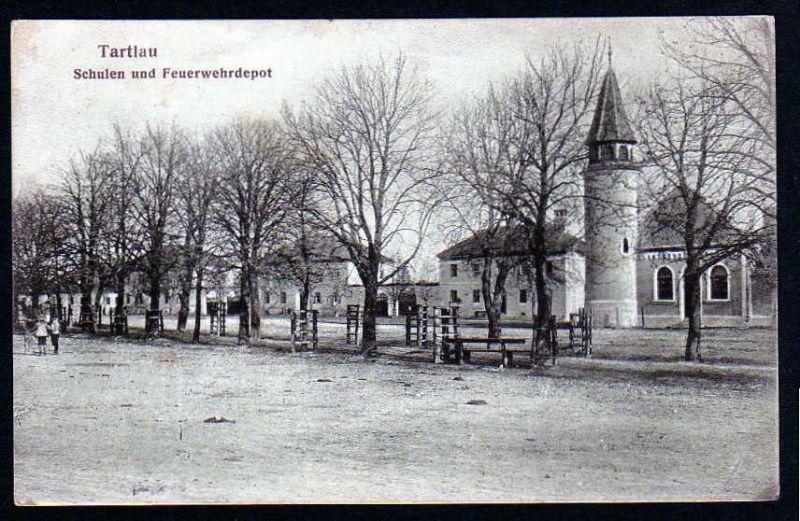 Ansichtskarte Tartlau Schulen u. Feuerwehrdepot 1917 Prejmer