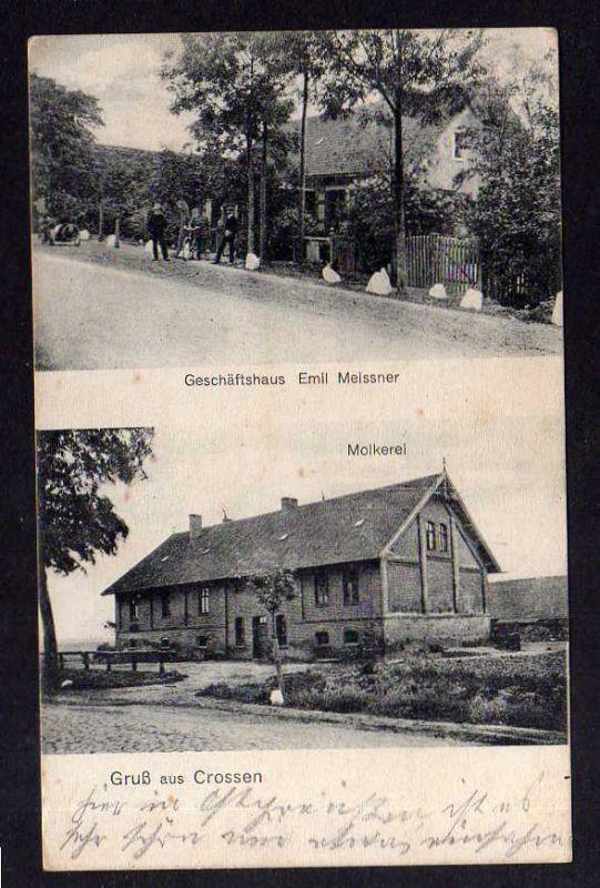 Ansichtskarte Krosno Krossen Crossen Kr. Preußisch Holland Ostpreußen 1911 Molkerei