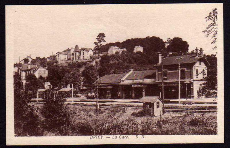Ansichtskarte Briey La Gare Qubonnet Lok Dampflok Zug