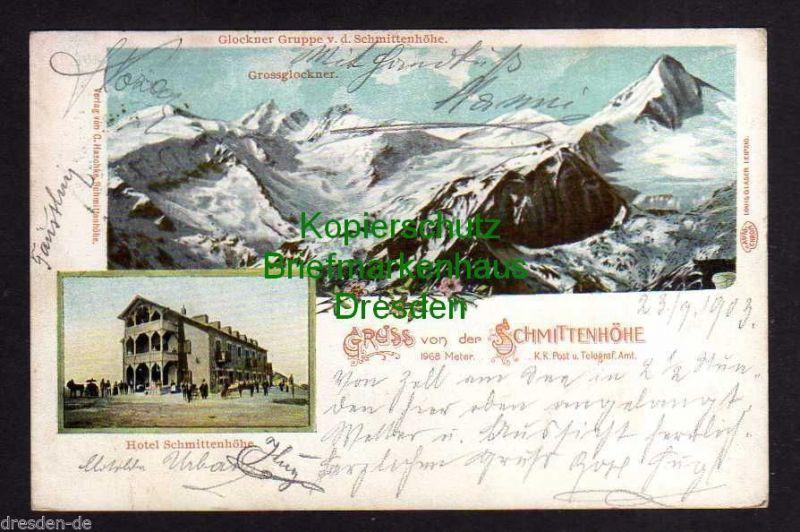 Ansichtskarte Großglockner Hotel Schmittenhöhe 1903