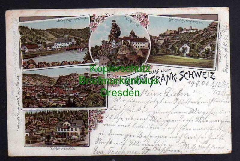 Ansichtskarte Behringersmühle Pottenstein Schüttersmühle Tüchersfeld Neumühle bei Ra