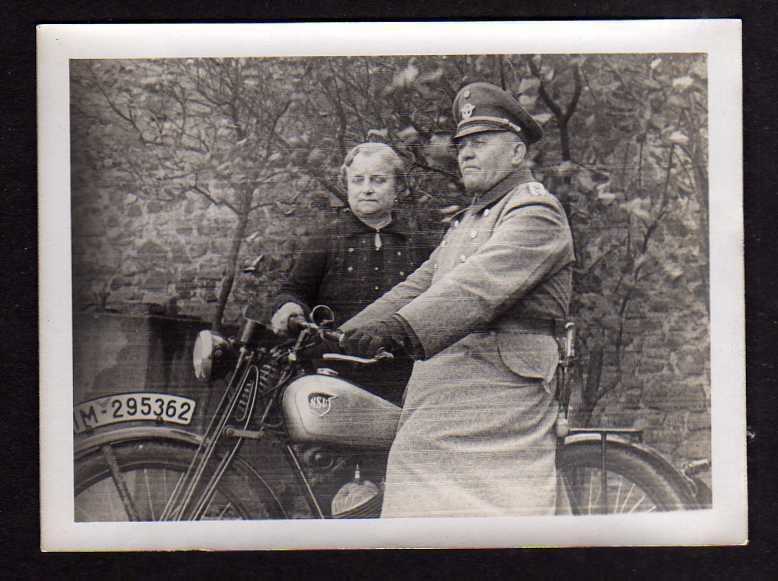 Foto Motorrad Oldtimer NSU um 1940 Kennzeichen IM 295362