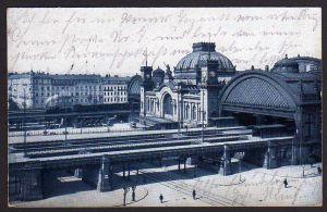Ansichtskarte Dresden 1915 Hauptbahnhof Vollbild Lennestr.