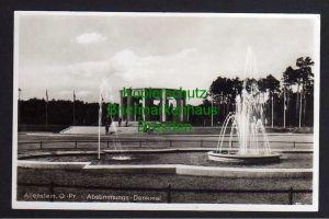 Ansichtskarte Allenstein Olsztyn Opr. Abstimmungs Denkmal Fotokarte um 1930