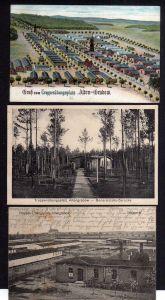 3 Ansichtskarte Truppenübungsplatz Altengrabow Alten Grabow Generalstabs Baracke