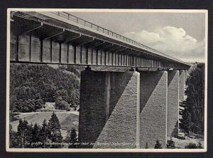 Ansichtskarte Nossen Siebenlehn größte Autobahnbrücke der Welt um 1938 Gaststätte Hu
