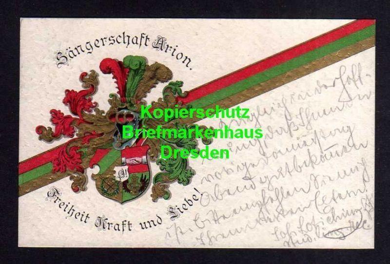 Ansichtskarte Studentika Leipzig 1912 Sängerschaft Arion