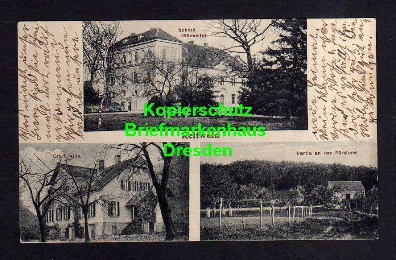 Ansichtskarte Reitwein 1919 Schloss Südseite Gräfl. Villa Partie an d. Oberförsterei