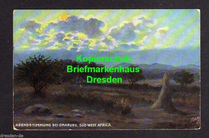 Ansichtskarte DSW Afrika Abendstimmung bei Omaruru Südwestafrika verlag der Swakopmu