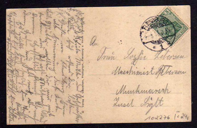 Ansichtskarte Harrisleefeld bei Flensburg 1914 4 Ansichten Straßen Häuser 1