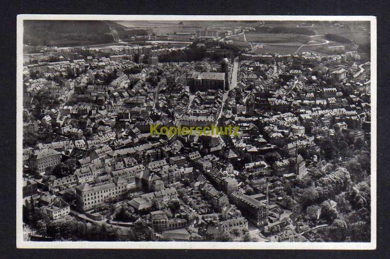 Ansichtskarte Annaberg Erzgebirge um 1935 Luftbild Fliegeraufnahme Fotokarte Junkers