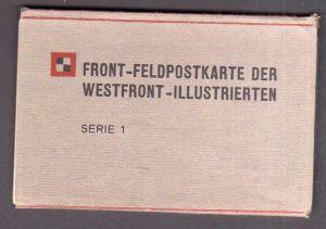 12 Ansichtskarte Serie Front Feldpostkarte der Westfront Illustrierten um 1915 Panze