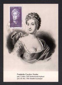 Maximumkarte DDR 1972 1735 Persönlichkeiten Caroline Neuber
