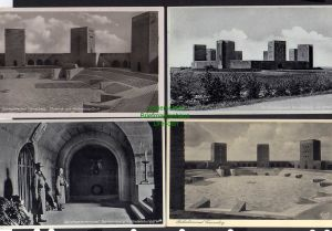 4 Ansichtskarte Hohenstein Ostpreußen 1938 Reichsehrenmal Tannenberg Fotokarte Hinde