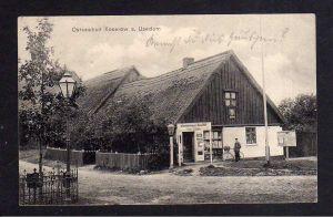 Ansichtskarte Ostseebad Koserow auf Usedom 1911 Materialwaren Geschäft Otto Lüder