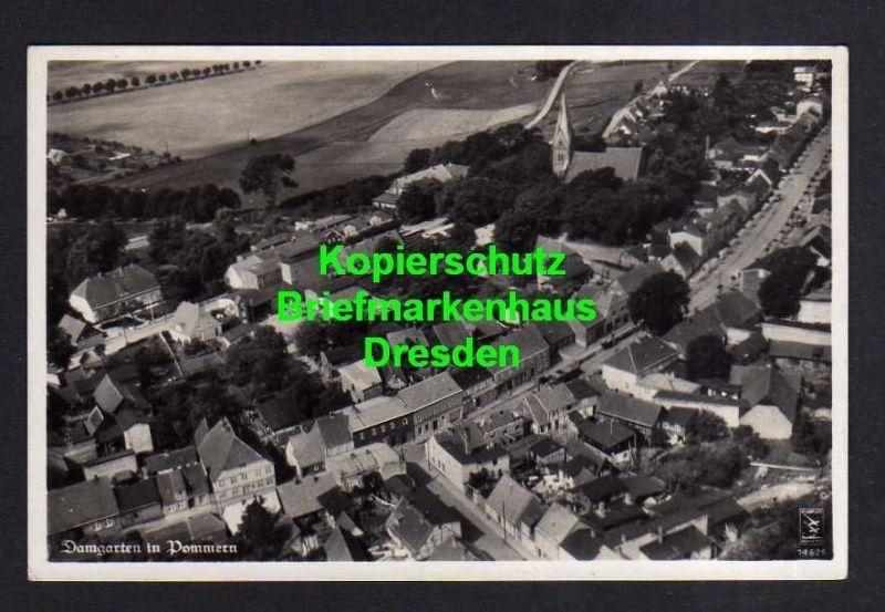 Ansichtskarte Ribnitz-Damgarten in Pommern Luftbild Fotokarte um 1935  gelaufen 1952
