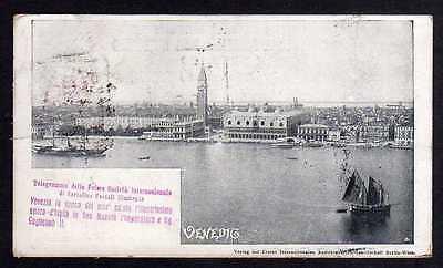Ansichtskarte Venedig 1898 Reise Erste Internationale Ansichtskartengesellschaft