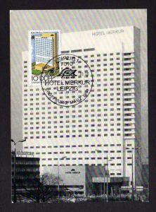 Maximumkarte DDR 1981 2593 Leipziger Messe Hotel Merkur Leipzig