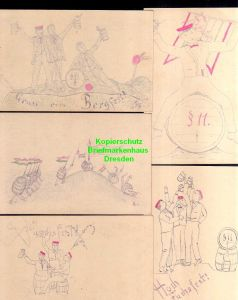 5 Ansichtskarte Studentika Bergfest Fuchsfest um 1905