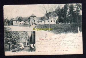 Ansichtskarte Gravenbruch Neu-Isenburg Kr. Offenbach Hessen 1901 Waldrestaurant