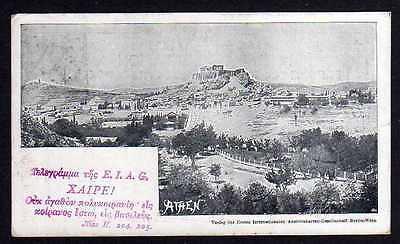 Ansichtskarte Athen 1898 Reise Erste Internationale Ansichtskartengesellschaft Grece