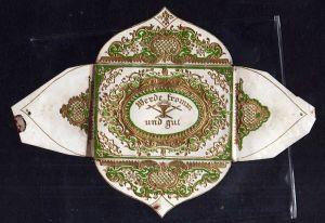 Taufbrief um 1840 Biedermeier Werde fromm und gut ,  aufwändig geprägt