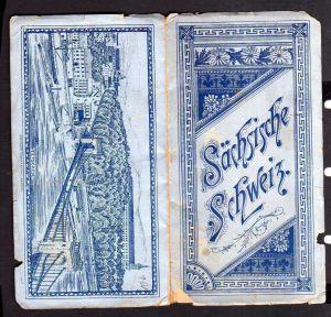 Sächsische Schweiz um 1890 12teiliges Leporello Pillnitz Bastei Pirna Hoc