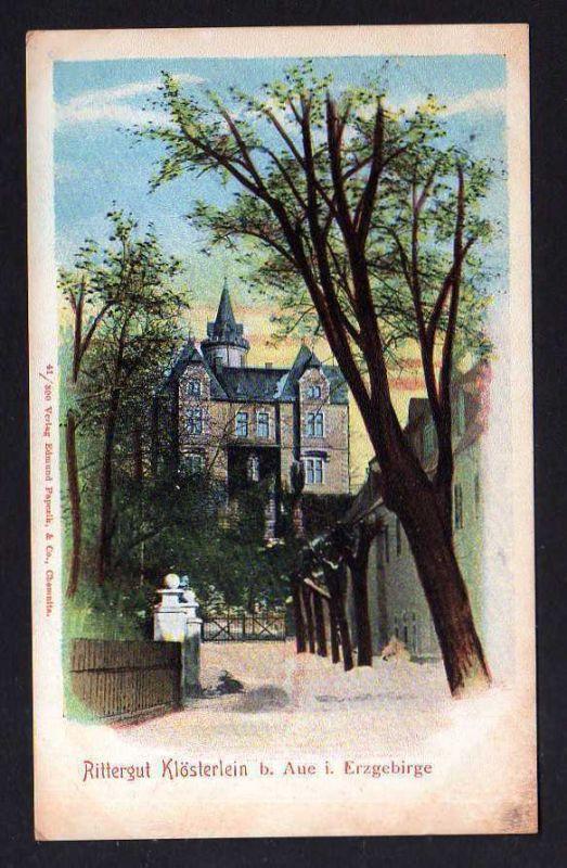 Ansichtskarte Rittergut Klösterlein bei Aue i. Erzgebirge um 1900