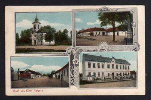 Ansichtskarte Rajhrad Klein Raigern Rajhradice 1916 Kirche Dorf 4 Militär Zensur Brü