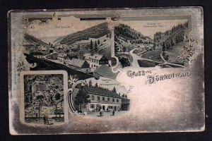 Ansichtskarte Dürrenwaid Kr. Hof Bayern Gasthaus zum Dürrenwaider Tal um 1900 Prinz