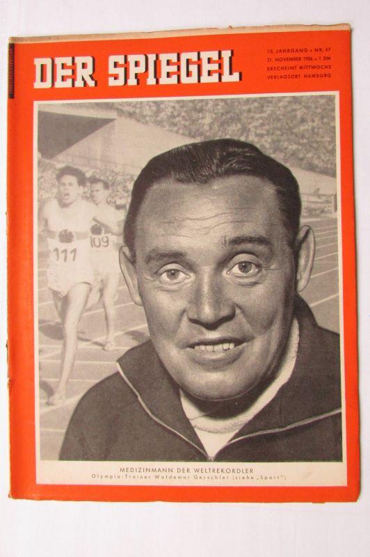 Der Spiegel 1956 10. Jahrgang Nr. 47 Olympia Sport Trainer Woldemar Gerschler