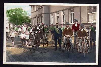 Ansichtskarte Fahrrad Hochrad Laufrad vor Hotel Schweizerhof Fest Vereinsfest