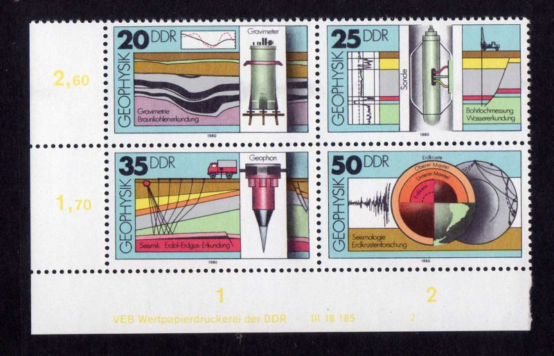 DDR 1980 2557 - 2560 DV FN 2 **  Geophysik