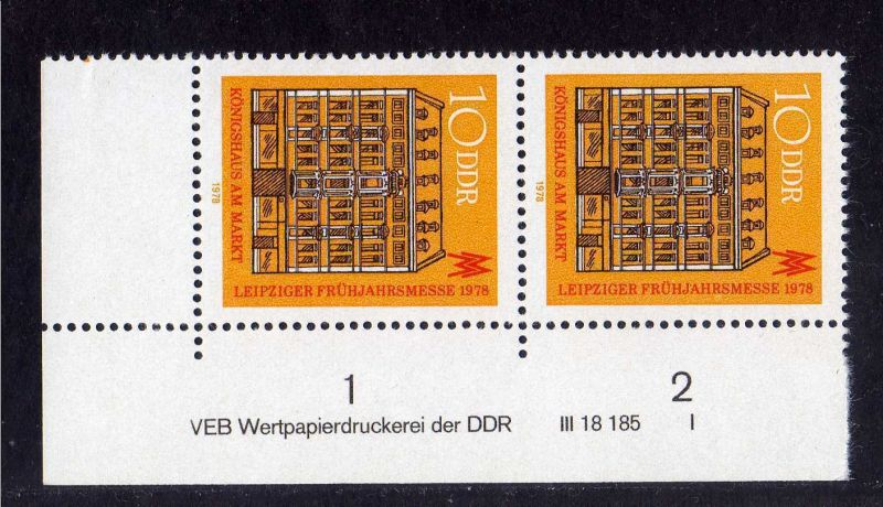 DDR 1978 2308 DV I ** Leipziger Frühjahrsmesse