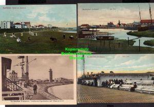 7 Ansichtskarte Cuxhaven Der Priel 1909 Alte Liebe Leuchtturm Signalstation Telegrap