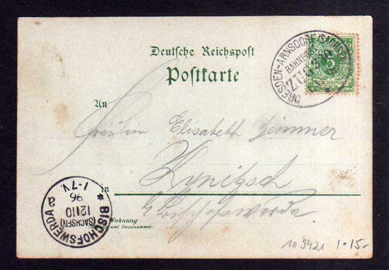 Ansichtskarte Dresden Klotzsche 1896 Vorläufer Königswald Bahnhofs