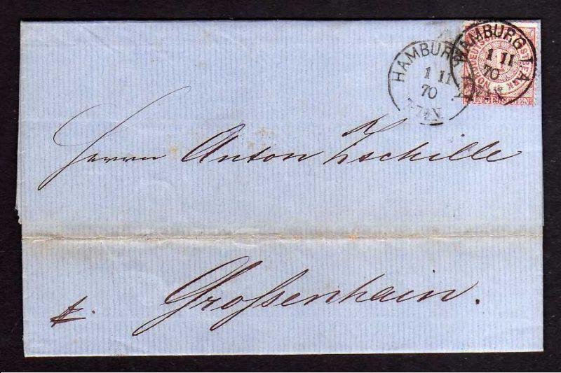 Faltbrief NDP Hamburg 1870 O. L. Eichmann
