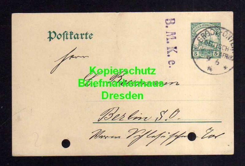 DSW Ganzsache Grootfontain 1910 Bedarf Farmer Hermann Steinfürst