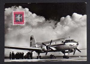 Maximumkarte DDR 1957 610 Luftpost Mittelstreckenflugzeug IL 14