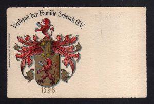 Ansichtskarte Studentika Wappen Verband der Familie Schenck G. V. um 1910